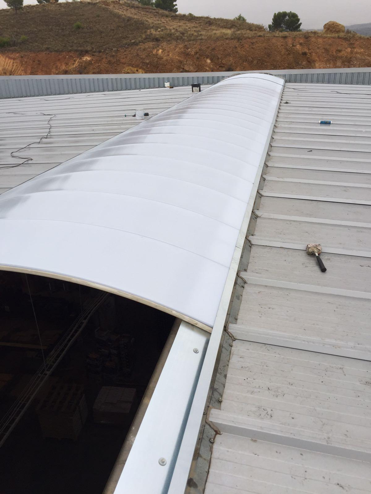policarbonato celular en cúpula y panel de policarbonato 30mm de espesor, Mansilla cortes, Calatayud